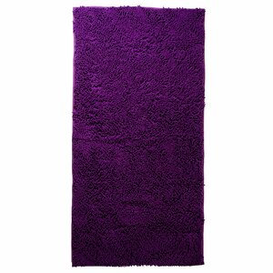 Jami High Pile Purple Solid Area Rug