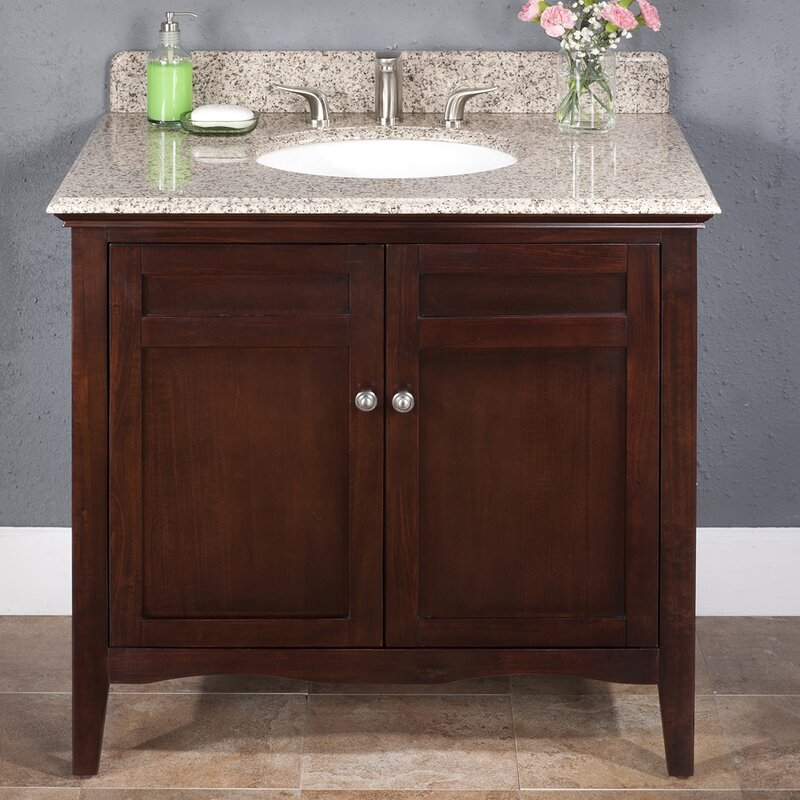 "lanza ashford 36"" single bathroom vanity set & reviews 