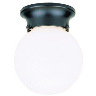 Ebern Designs Barcroft 1-Light Flush Mount