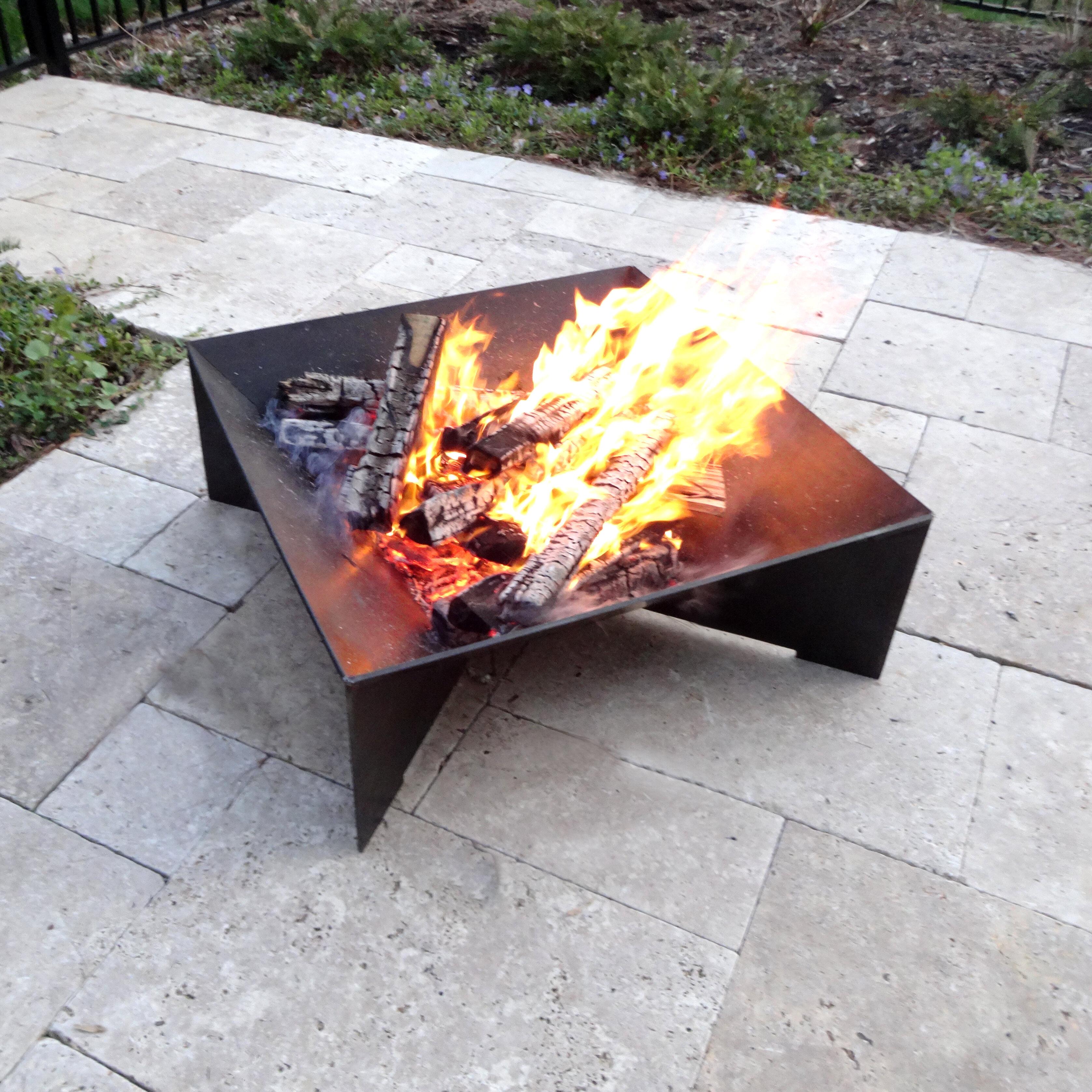 Cavo Design Geo Steel Wood Burning Fire Pit Reviews Wayfair