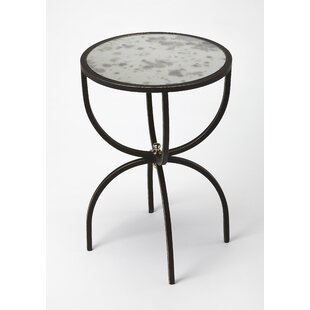 Affordable Price Taraska Metal and Mirror End Table By Ivy Bronx