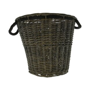 Round Log Wicker Laundry Basket By Bay Isle Home