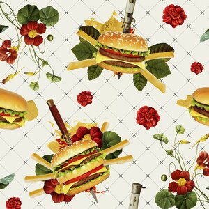 Cheeseburgers in Gangsta's Paradise Removable 5' x 20