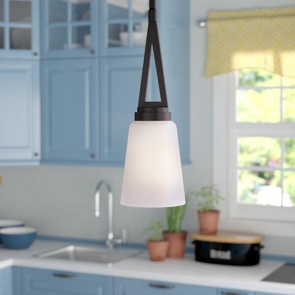 Andover Mills Casias 1 Light Single Bell Pendant Reviews Wayfair