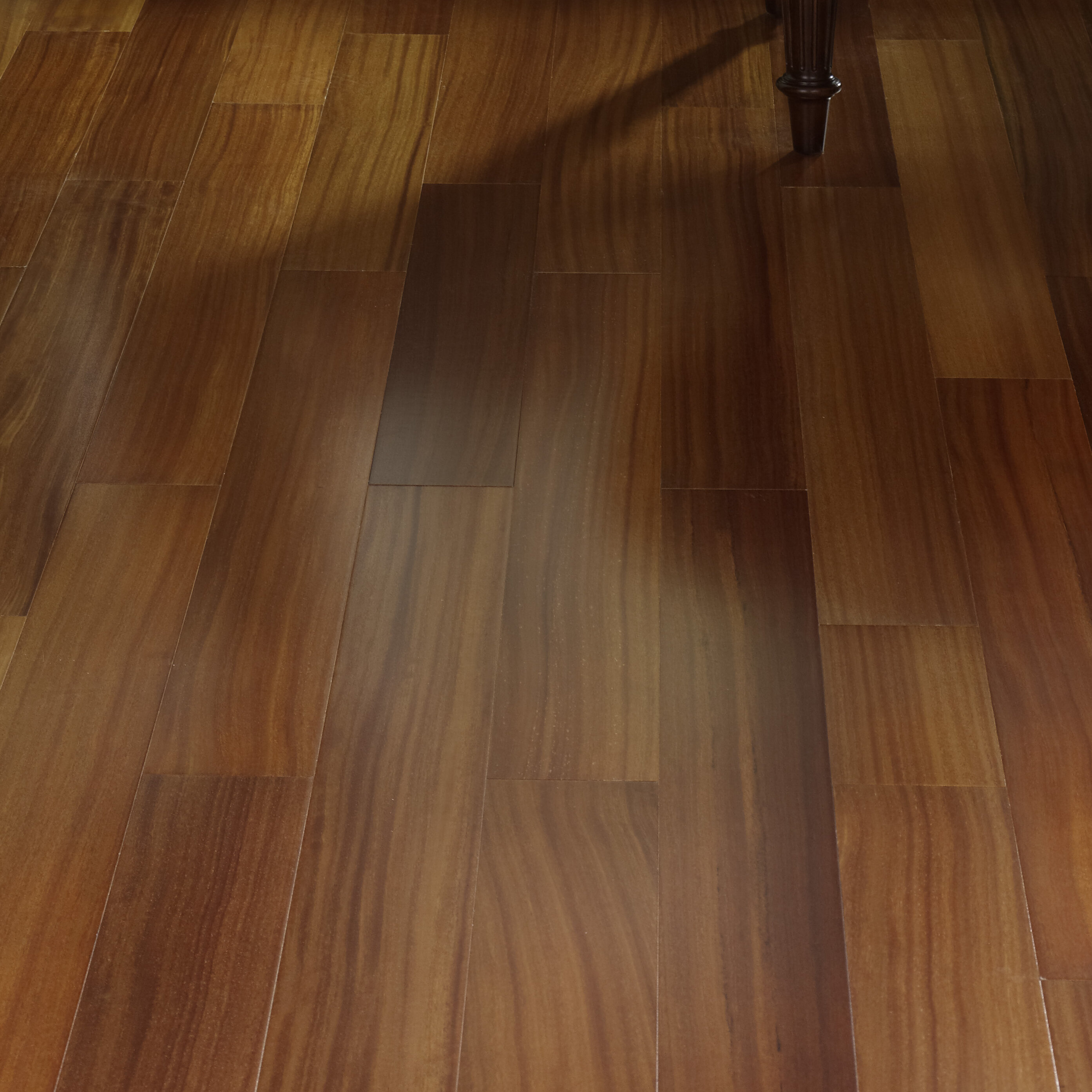 "South American Legends Teak 3/3"" Thick x 3"" Wide x Varying Length  Engineered Hardwood Flooring"