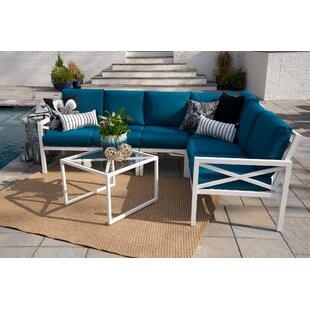 SE Brands Blakely 5 Piece Sectional Set with Cushions