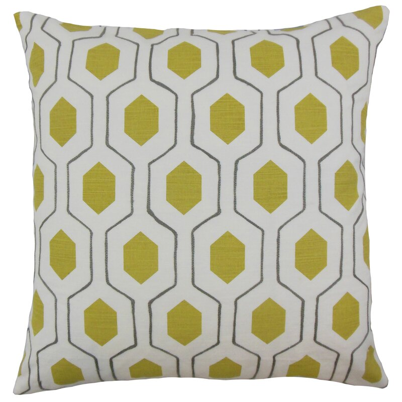 Flynn Geometric Cotton Throw Pillow