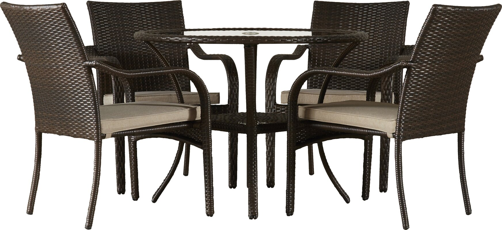 darby home co darden 5 piece dining set with cushions reviews default name