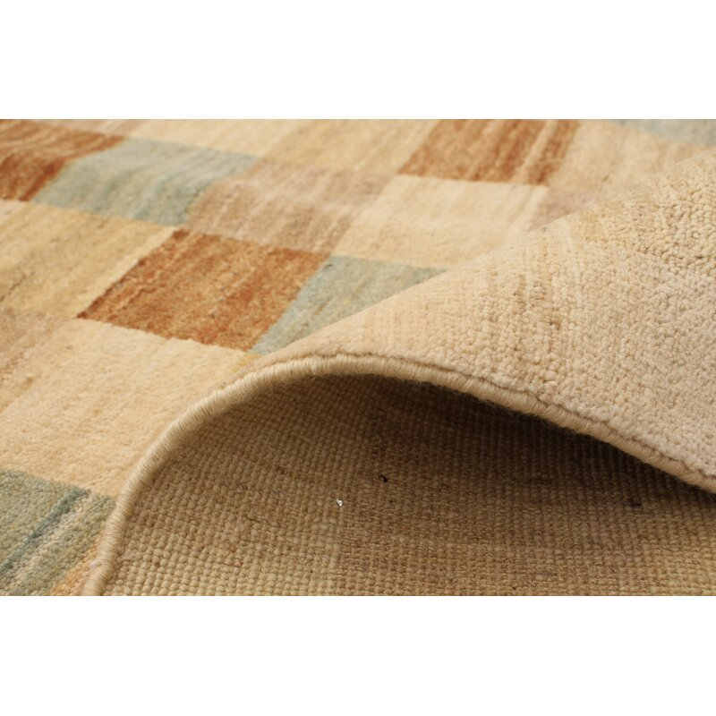 Darby Home Co One Of A Kind Camara Hand Knotted 2010s Bhadohi Beige 4 1 X 6 1 Wool Area Rug Wayfair