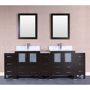 Adrian 96 Double Bathroom Vanity Set with Mirror by Bosconi