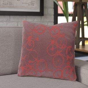 Ellen Bicycle Print Throw Pillow