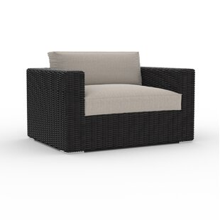 Boothe Large Patio Chair with Cushion by Bungalow Rose