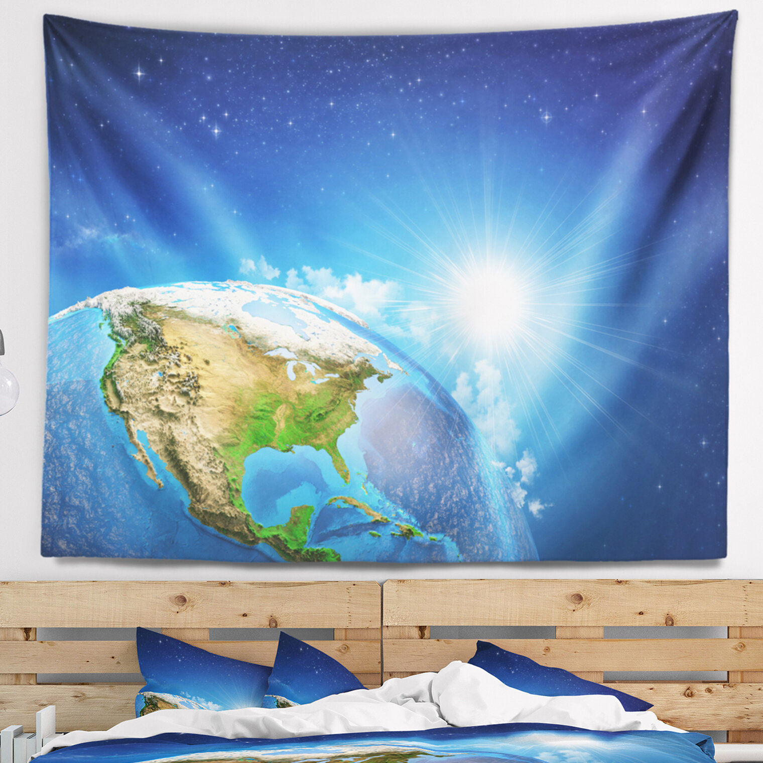 66931ce7edf0 Abstract Sunrise over the Earth Landscape Tapestry