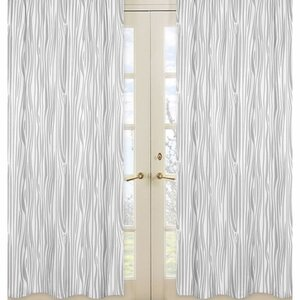 Woodland Deer Nature/Floral Semi-Sheer Rod pocket Curtain Panels (Set of 2)