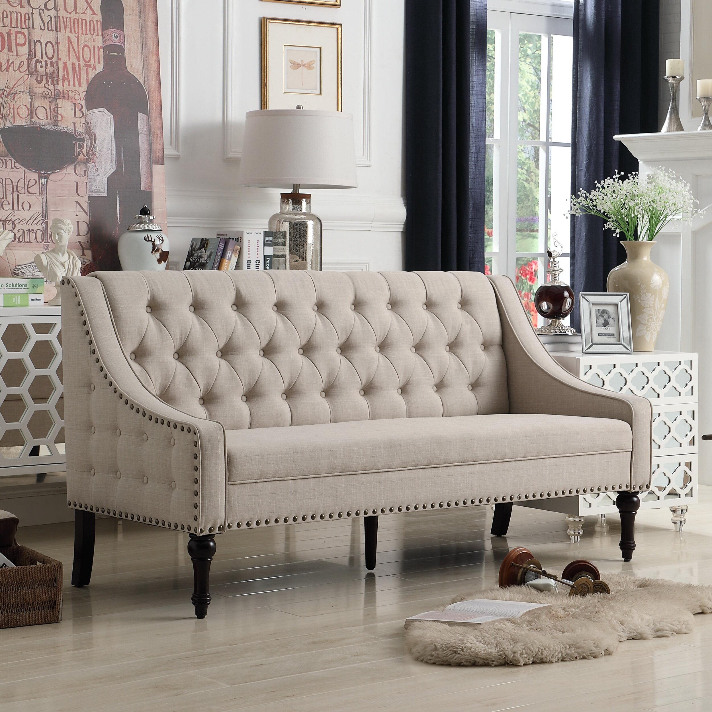 Recessed Arm Sofa Reviews Birch Lane