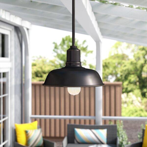 Cheng 1 Light Outdoor Pendant Wayfair