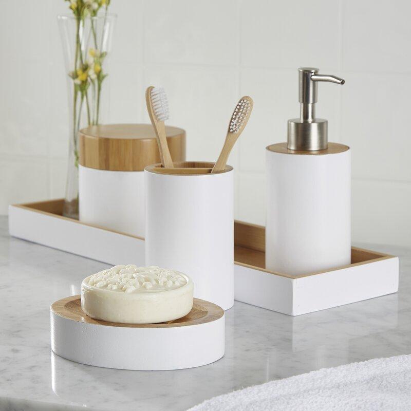 Bathroom Accessories Set rousseau 6-piece bathroom accessory set & reviews | birch lane