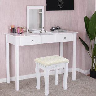 Lottie Vanity Set with Mirror by Charlton Home
