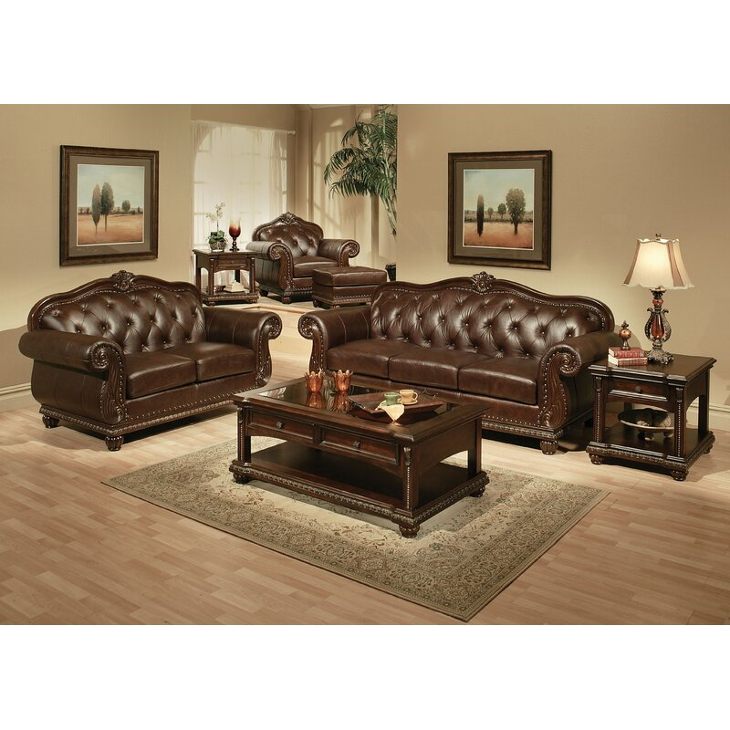 Astoria Grand Wentz Leather Configurable Living Room Set & Reviews