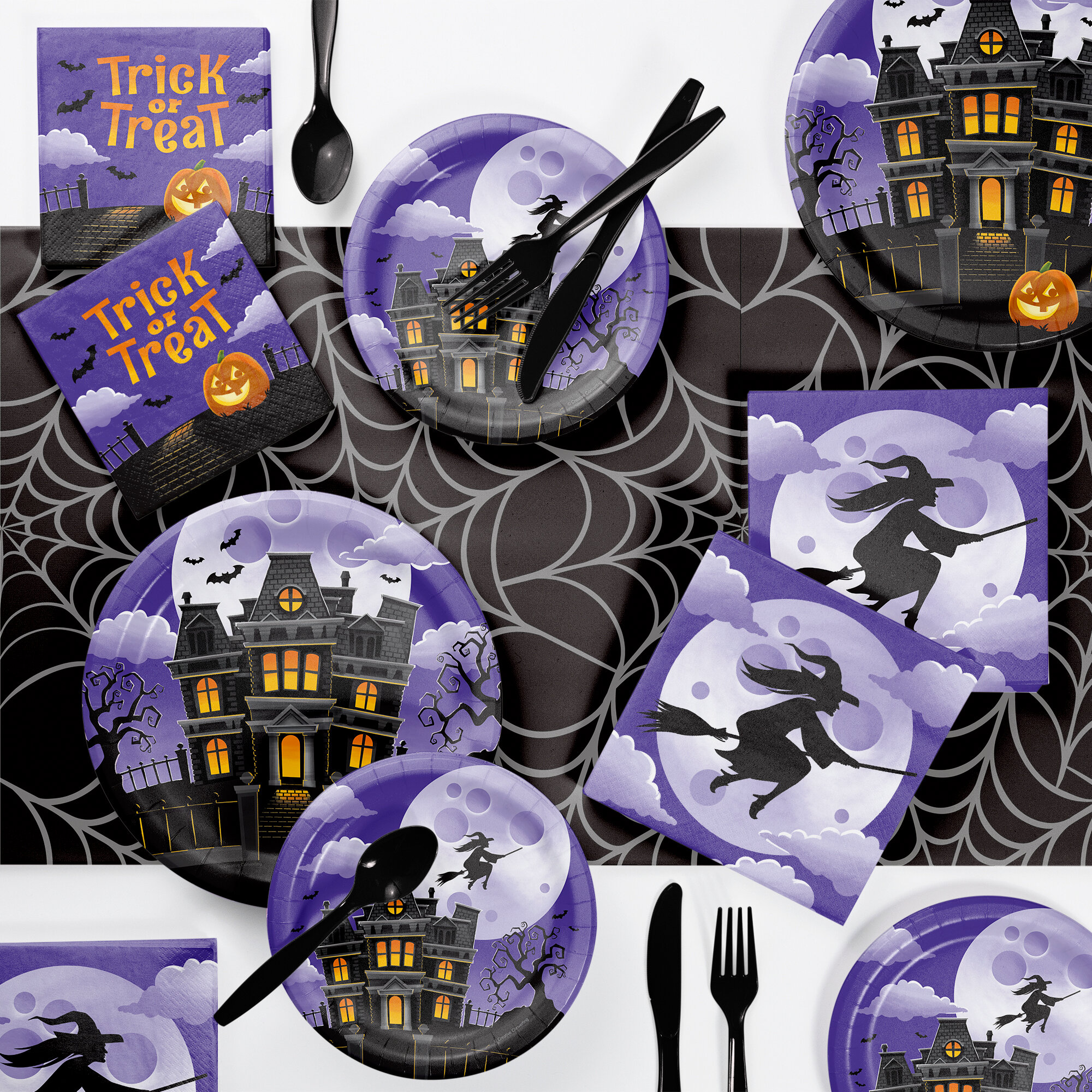 Halloween Solid Color Disposable Tableware You Ll Love In 2021 Wayfair