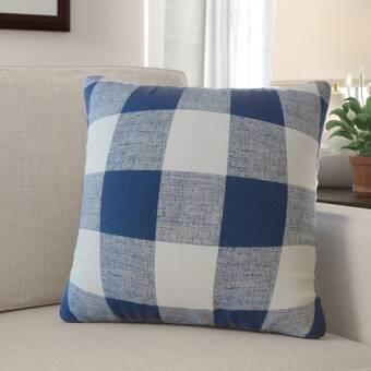 August Grove Jacobsen Plaid Down Filled 100 Cotton Throw Pillow Wayfair