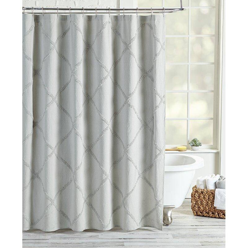 Alcott Hill Agustin Lattice Cotton Single Shower Curtain