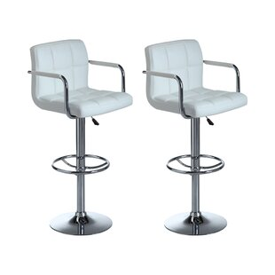 Miami Height Adjustable Swivel Bar Stool (Set Of 2) By Metro Lane