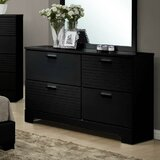 Moderno 4 Drawer Double Dresser with Mirror by Wildon Home®