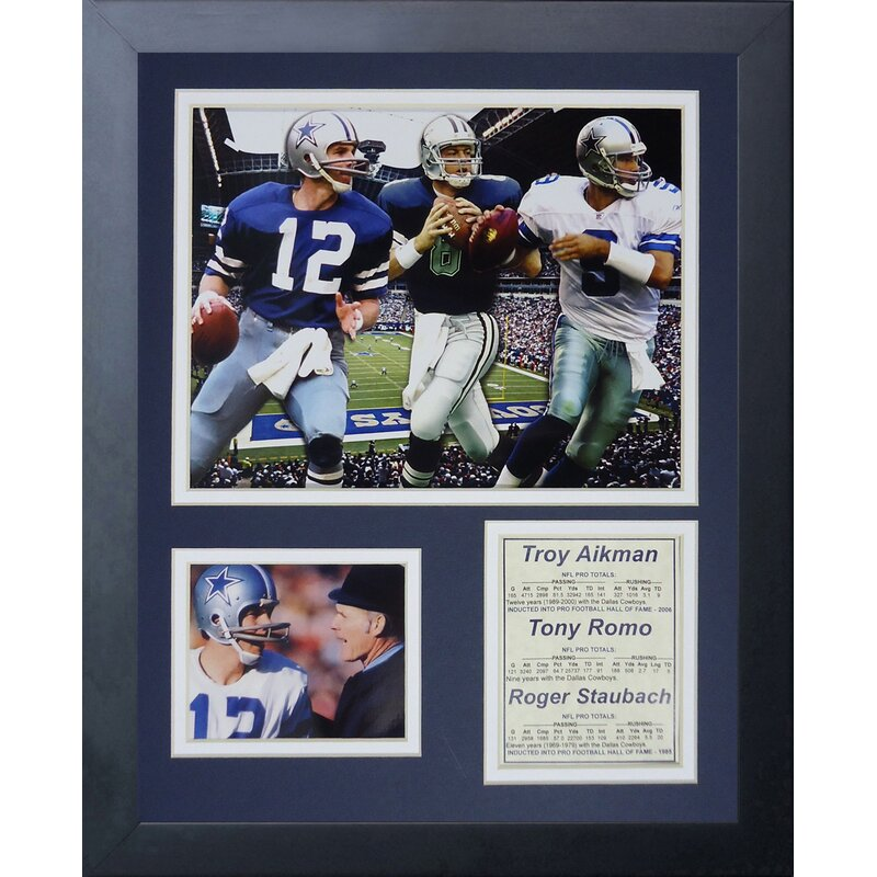 half off 00832 8649b Legends Never Die Dallas Cowboys Cowboy Quarterbacks Framed Memorabili    Wayfair.ca