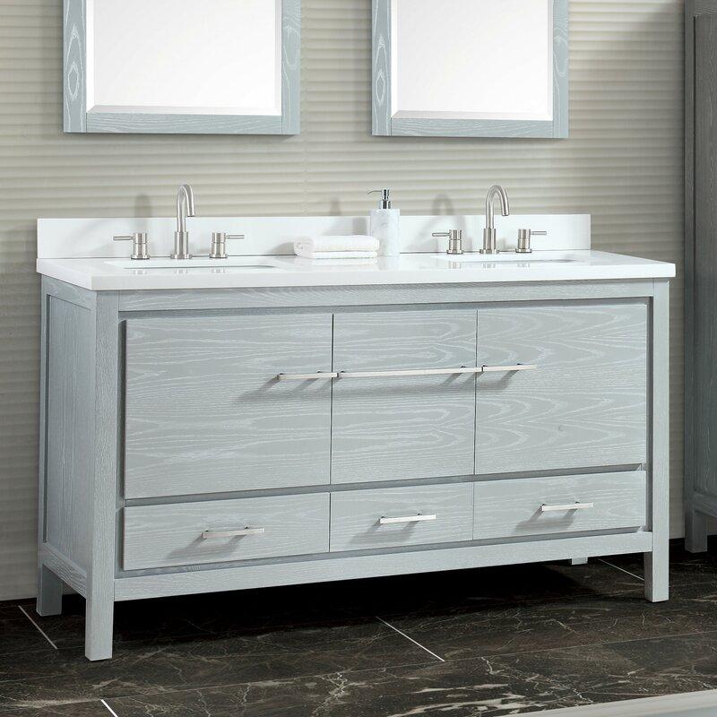 Latitude Run Liverman 61 Double Bathroom Vanity Set Wayfair