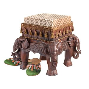 The Maharajah's Elephants Sculptural Ottoman by Design Toscano