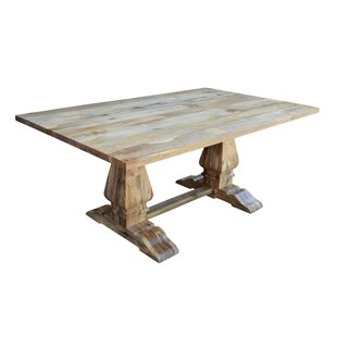 Harley Solid Wood Dining Table Millwood Pines