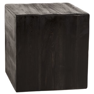 Price Check Paschke Rustic Cube End Table by Loon Peak
