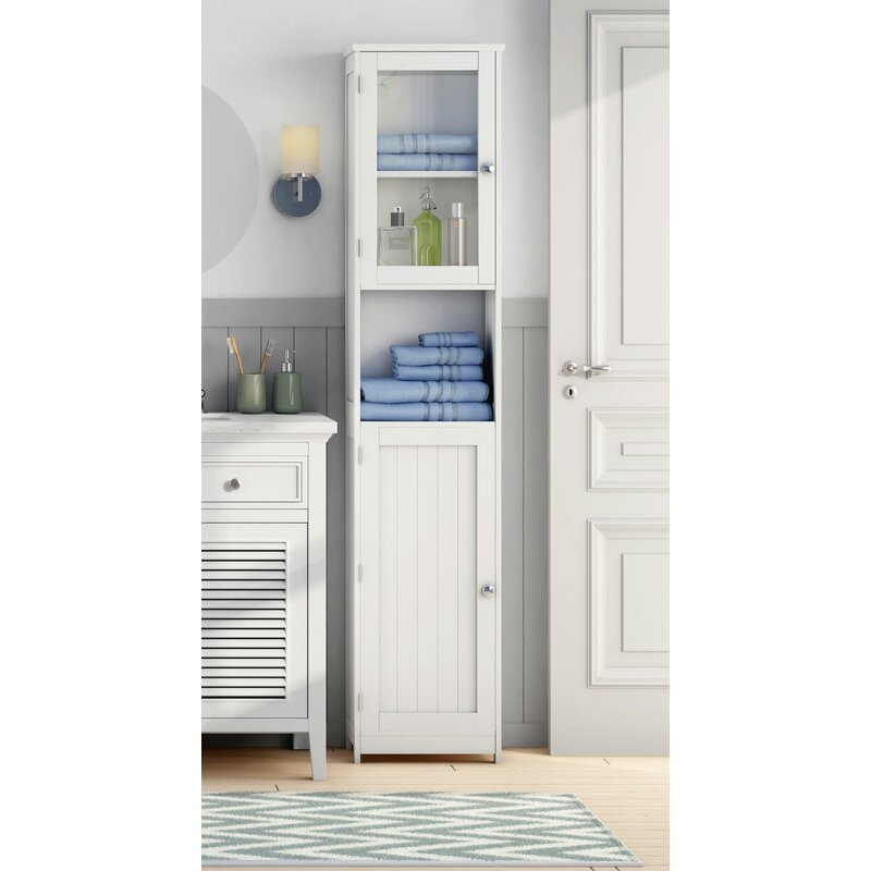 All Home 40 X 189cm Free Standing Tall Bathroom Cabinet Reviews Wayfair Co Uk