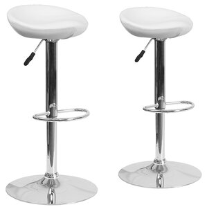 adjustable height swivel bar stool set of 2