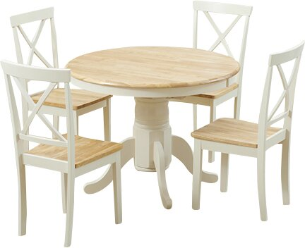 Colby Lane Dining Set with 4 Chairs Three Posts Colour: Oak