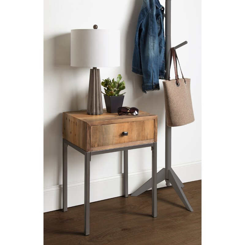 Union Rustic Pruitt Wood End Table With Storage Wayfair