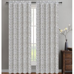 Jacquard Scroll Damask Semi-Sh...