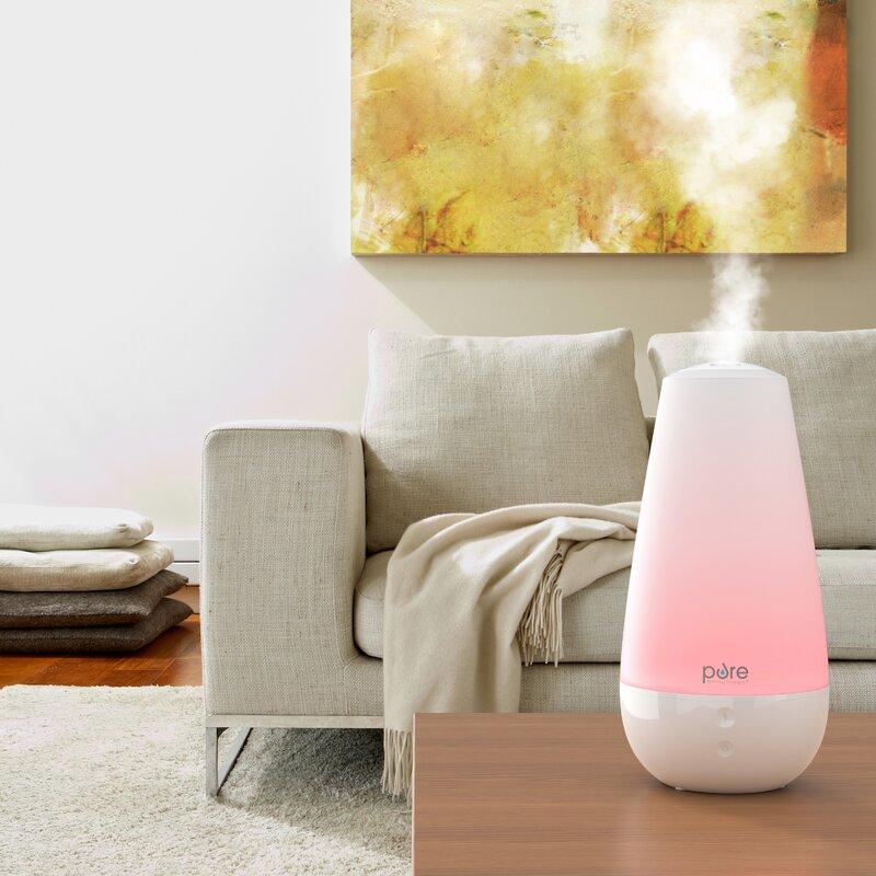 Pure Enrichment 0 52 Gal Cool Mist Ultrasonic Tabletop Humidifier 120 Sq Ft Reviews Wayfair