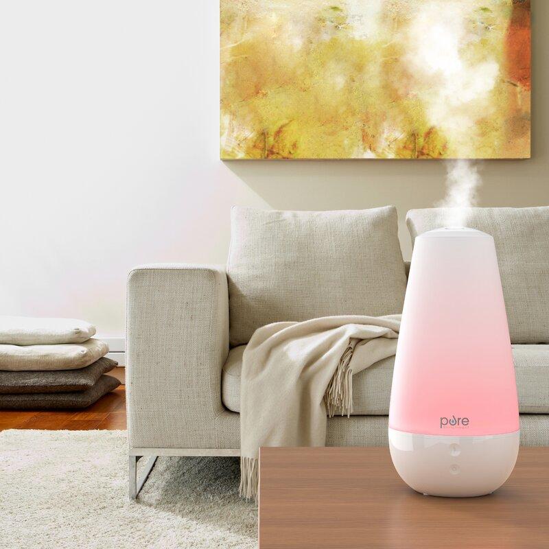 Pure Enrichment 0 52 Gal Cool Mist Ultrasonic Tabletop Humidifier 120 Sq Ft Reviews Wayfair