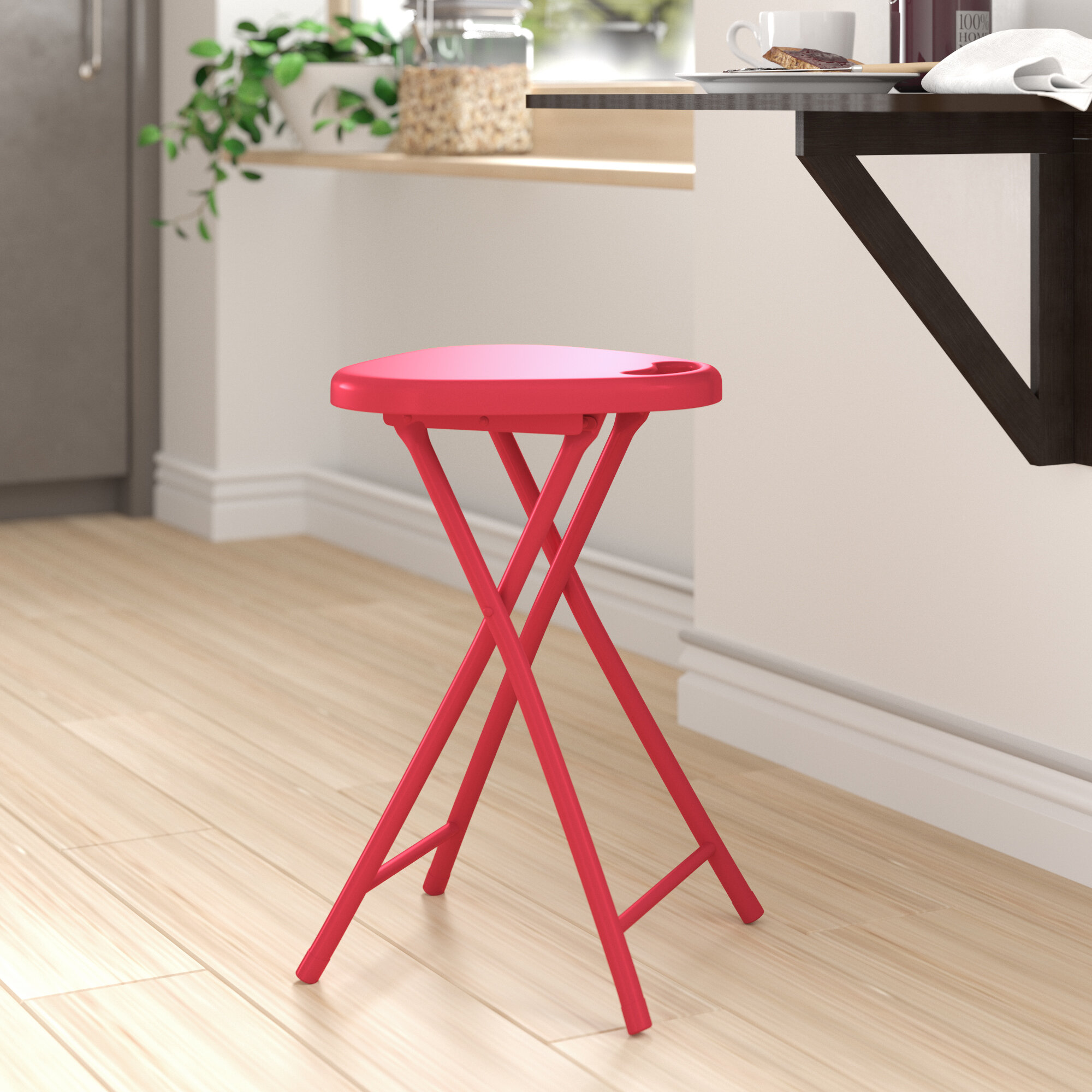 Zipcode Design Silvia Folding Stool With Handle Reviews Wayfair