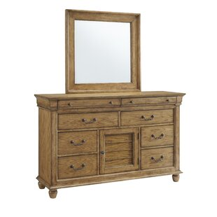 Kelton 8 Drawer Combo Dresser with Mirror