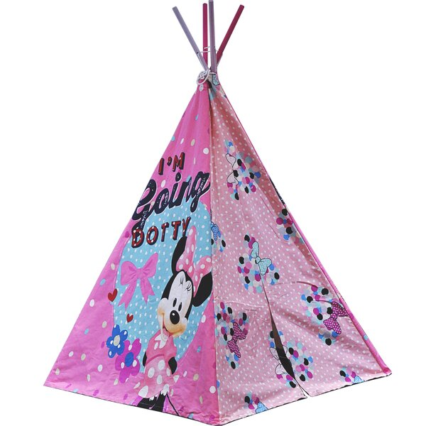 Idea Nuova Disney Minnie Mouse Triangular Play Tent with ...