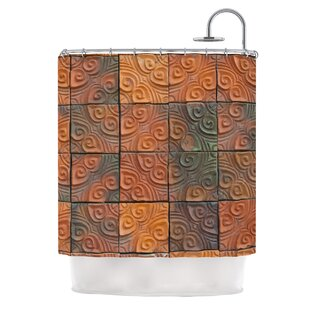 Whimsy Tile by Susan Sanders Rustic Single Shower Curtain