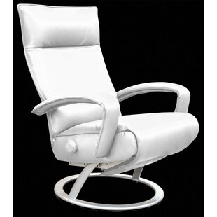 modern contemporary white leather swivel chair allmodern