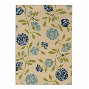 Floral Surry Rug Ivory Indoor/Outdoor Area Rug