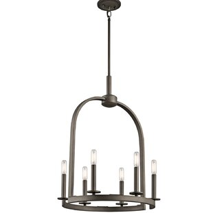 Brayden Studio Mcalister 6-Light Wagon Wheel Chandelier