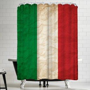 Top Reviews Wonderful Dream Italy Flag Shower Curtain ByEast Urban Home