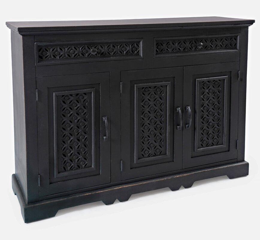 Lorraine 48 Wide 2 Drawer Acacia Wood by Bungalow Rose