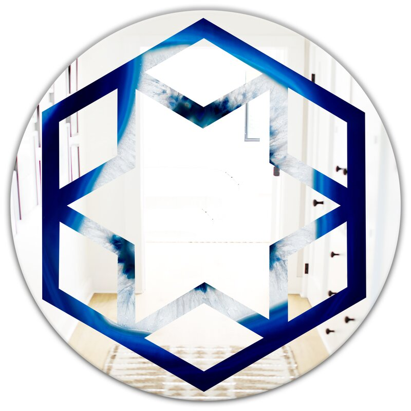 East Urban Home Slice Of Crystal Hexagon Star Eclectic Frameless Wall Mirror Wayfair